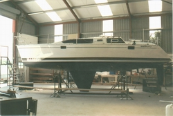 Workshop with Yacht after Re-Spray